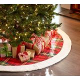 Faux Sherpa and Plaid Tree Skirt