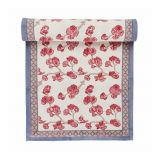 Cherry Blossom Trellis Block Print Table Runner