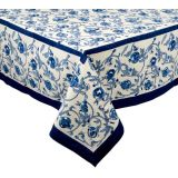 Granada Pomegranate Block Print Tablecloth