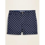 Mid-Rise Printed Everyday Shorts for Women -- 5-inch inseam