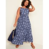 Floral-Print Cami Fit & Flare Plus-Size Maxi Dress