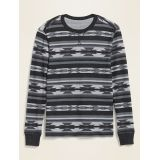 Soft-Washed Printed Thermal-Knit Long-Sleeve Tee for Men