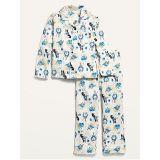 Oldnavy Patterned Gender-Neutral Flannel Pajama Set for Kids