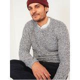 Oldnavy Textured Rib-Knit Crew-Neck Sweater for Men