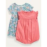 Oldnavy 2-Pack Jersey Dress and Bubble One-Piece Set for Baby