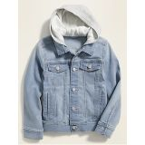Oldnavy Built-In Flex Fleece-Hood Jean Jacket for Boys