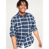 Oldnavy Regular-Fit Plaid Linen-Blend Shirt for Men