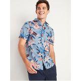 Oldnavy Built-In Flex Everyday Printed Short-Sleeve Shirt for Men